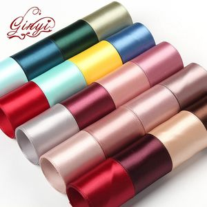 100% Polyester Silk Two Color Double Face Satin Ribbon For Wrapping