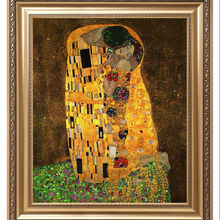 The kiss Gustav Klimt fine art painting reproduction Wall handmade art oil canvas painting