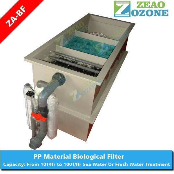 Fish farm system equipment aquaculture biological filter with bio filter media and uv lamp