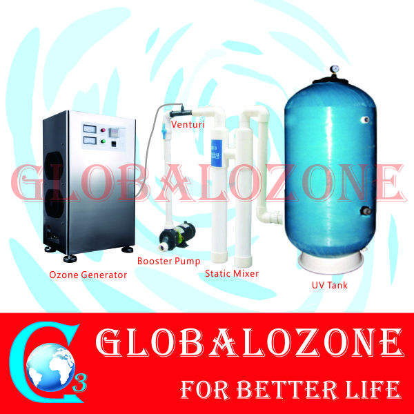 UV water filter for swimming pool with Ozone generator