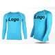 UPF 50+ Men long sleeve low collar colorful Lycra Rash Guard spandex vests