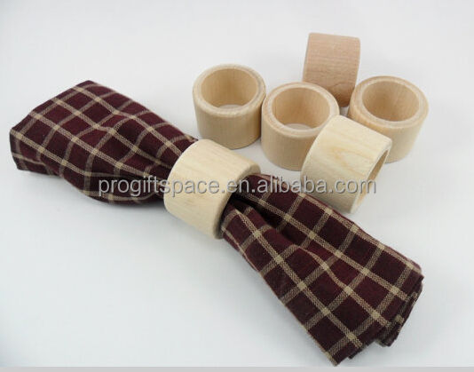 Hot selling China column shape gift cheap wood crafts wholesale high quality party table decorations wooden napkin rings
