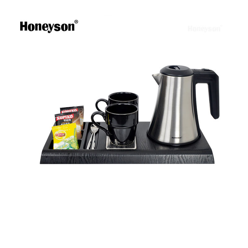 Honeyson hotel electric water kettle tea tray set