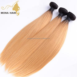 Soft two color virgin brazilian hair extension