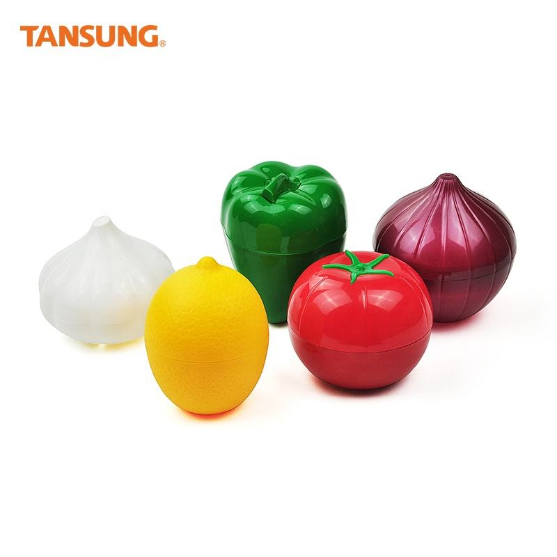 Custom Fruit Vegetable Shape Takeaway Plastic Container for Foods Storage