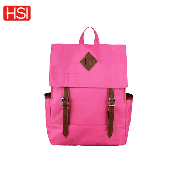factory wholesale 600D fabric book bag high quality backpack for girl