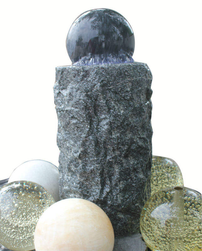 Garden Granite Stone Spinning Water Ball Fountain