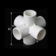 3D DIY PVC Connector 6 Way Connector 5 Way Elbow 4 Way Cross Pipe Fitting