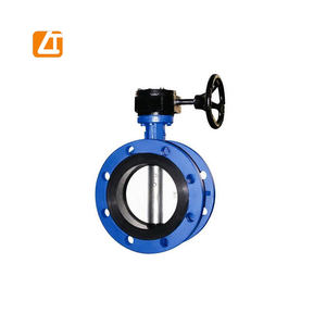 high quality cast iron metal seat pneumatic flange butterfly valve