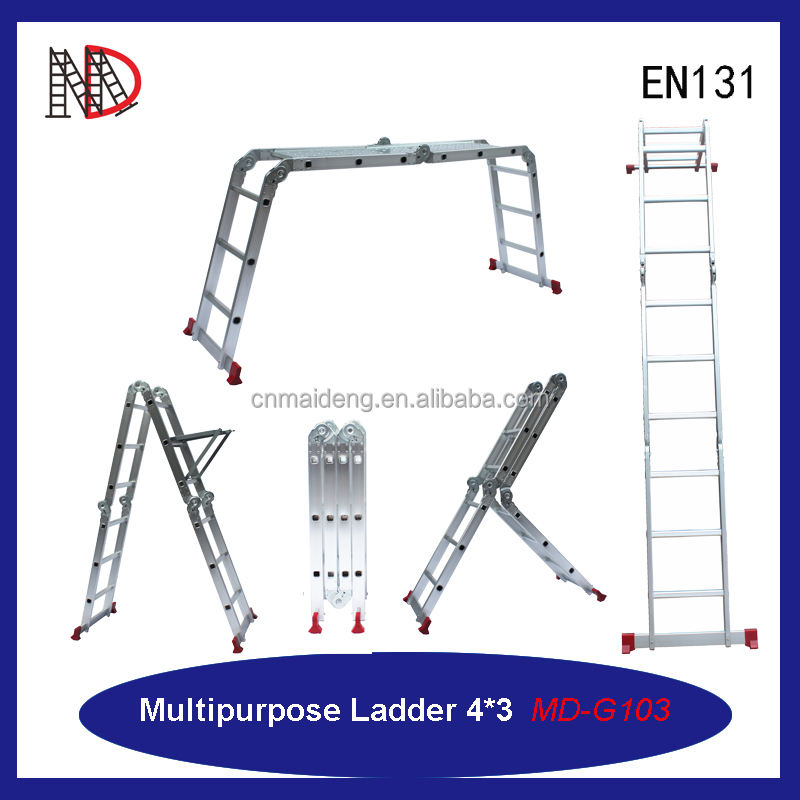 Een Frame Multifunctionele Ladder, Multi Vouwladder, Multi Functie Ladders