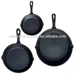 Pre-seasoned Round Cast Iron Cookware Frying Pan set