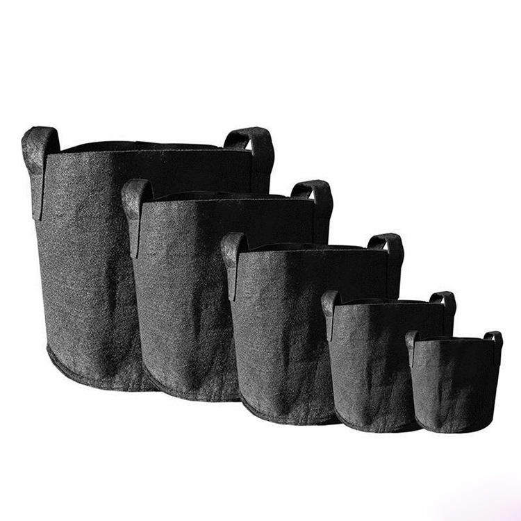 Cheap price 5 7 10 15 20 30 gallon recycled felt garden planter grow bags for home