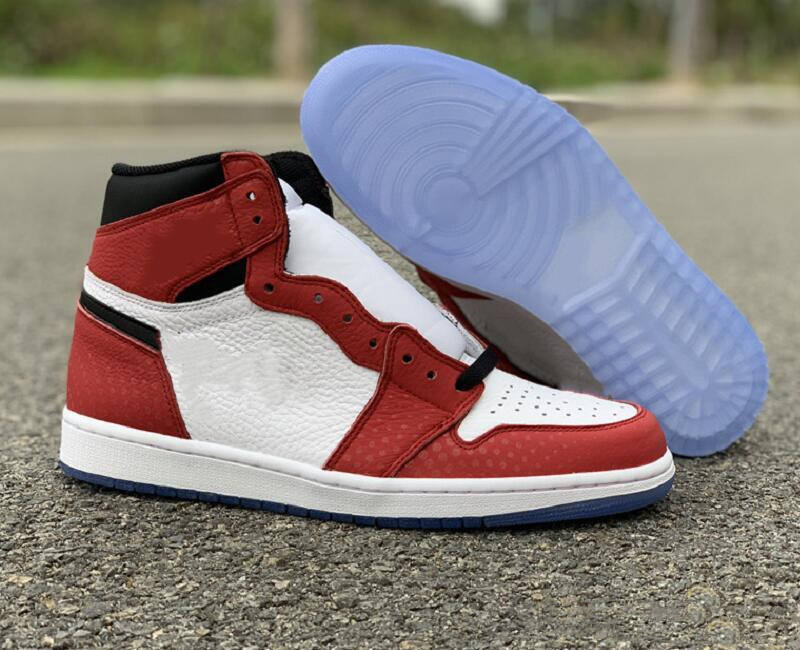 Hot Sale 1 High OG Spiderman Basketball Shoes New I Chicago Fashion Sneakers