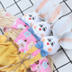 Easter Bunny Handmade Colored Animal Children Hand-Crafted Cute Rabbits