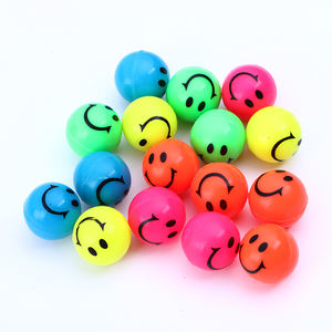 27mm bouncy ball Manufacturer customized smile printed rubber bounce ball