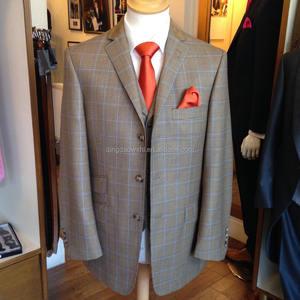 US $75.55 |Custom Made Moda Sposo uomo Smoking vestito Giallo Un Pulsante Notch Risvolto Abiti Da Uomo 2017 abiti da sposa per uomo (giacca +