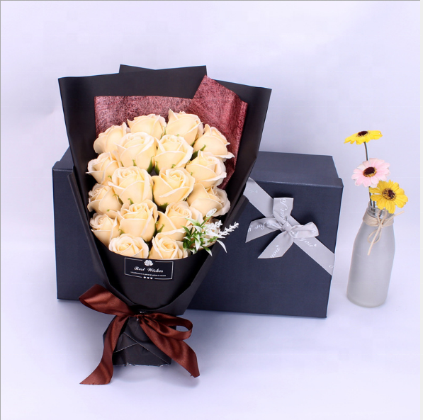 18pcs Soap Rose Flower Bouquet with Gift Box Soap Bouquet for Mother's day birthday gift Valentine's day