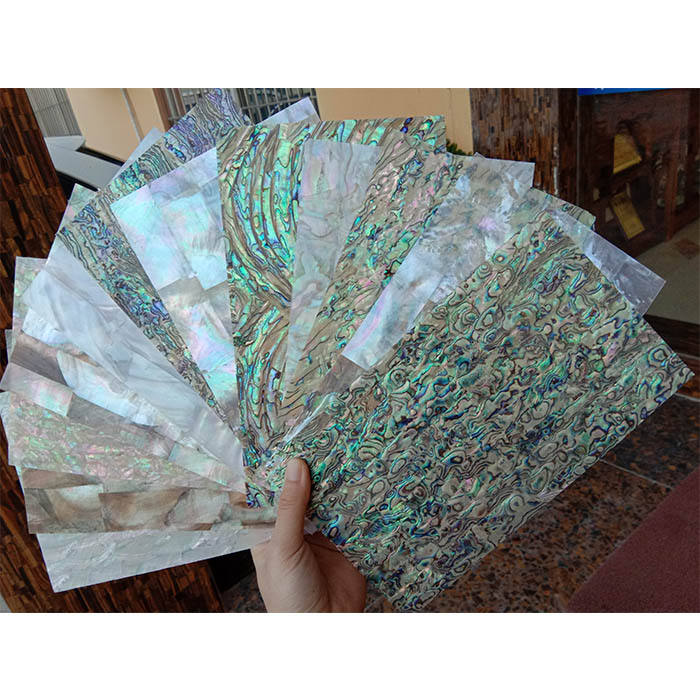 beautiful shining Paua Seashell Laminates Sheets natural abalone puau mother of pearl wall tile