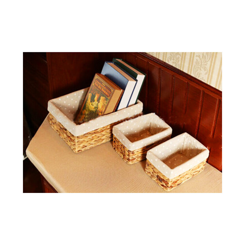 100% handmade natural sea grass storage basket water hyacinth storage basket for home storage