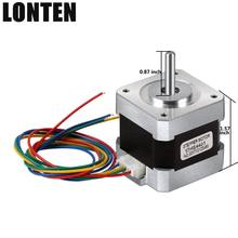 Lonten 5pcs 4-lead Nema 17 Stepper Motor 42 motor Nema 42BYGH 38MM 1.5A (17HS4401) motor for CNC XYZ 3d printer
