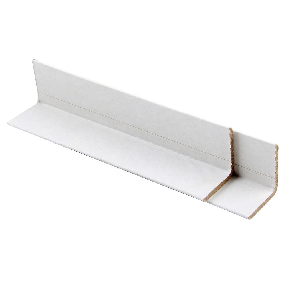 Custom Printing White Color Paper Corner Angle Board Protector for Carton Box