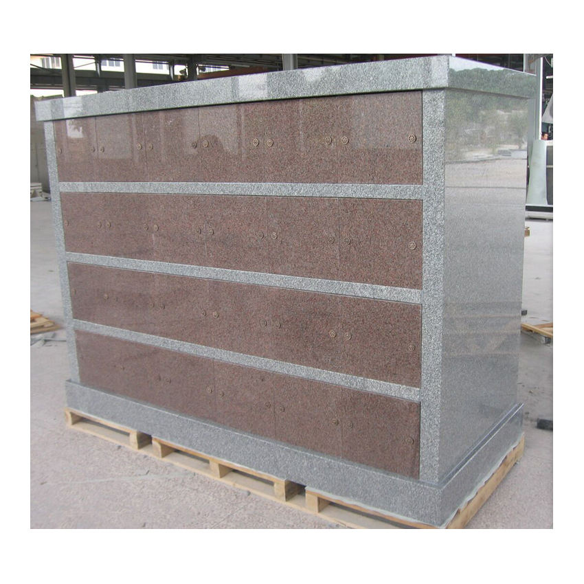 Cemetery Red Granite Cremation Columbarium for Sale