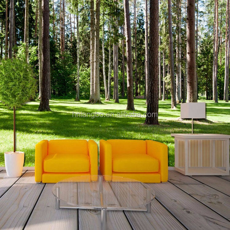 Custom HD mural 3D forest Wallpaper sofa background corridor entrance natural scenery wallpaper mural