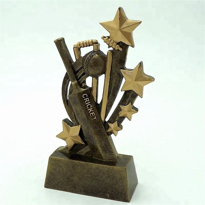 Resin Sculpture Cricket Trophy