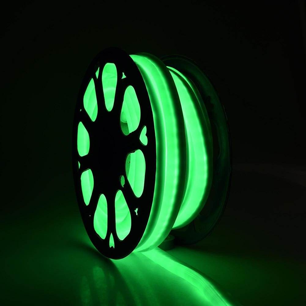 Green led neon flex hose 12 volt led neon tape light for pool