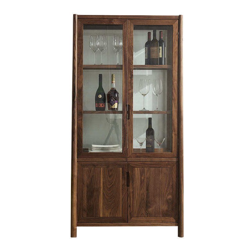 Modern Wooden Wine Display Display Cabinet