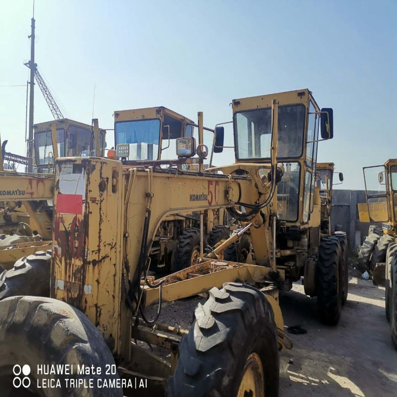 Heavy construction equipment used motor grader GD511 for sale many stocks in Shanghai