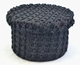 Grey knitted home use pick up storage box