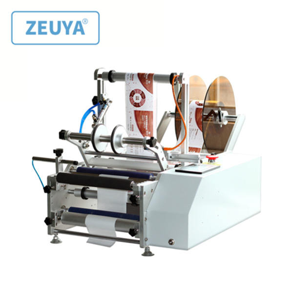auto printing round bottles plastic board labeling machine for transparent label