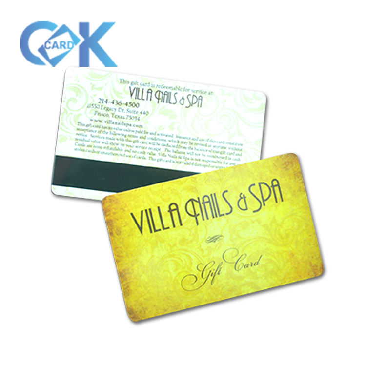 Custom full color credit card size pvc magnetic stripe card vip/id/gift card