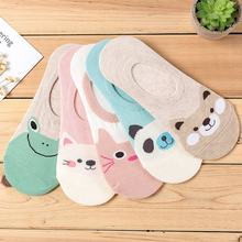 NEW Women Animal Cartoon Pattern invisible Socks hot sale  Female Cute Cartoon Animal Patterned Invisible Socks