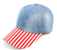 Wholesale Custom Denim Dad Hat, Make American Great Again Donald Trump Flag Hat with Leather Strap