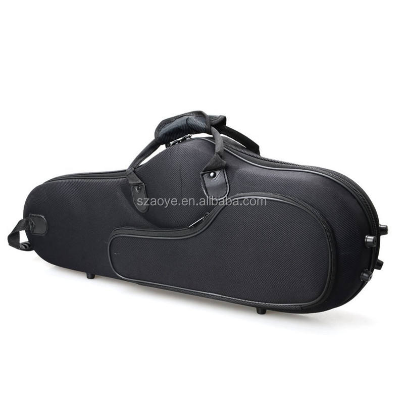 High Grade Durable Cloth Saxophone Case Bag Black Custom Eva Hard Bag