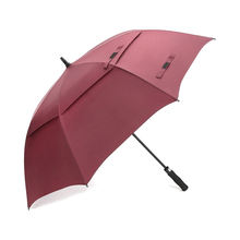 Promo windproof double layer golf umbrella with logo printing