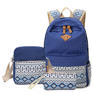 Canvas Custom High School Backpack for Teen Girls