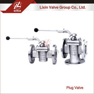 Standard DIN dn15 manual flange sleeve type plug valve wholesale