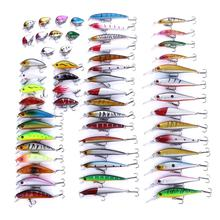 56PCS Mixed fish kit Minnow Wobblers Crankbait Hard Bait Tackle Artificial Fishing Lure Set