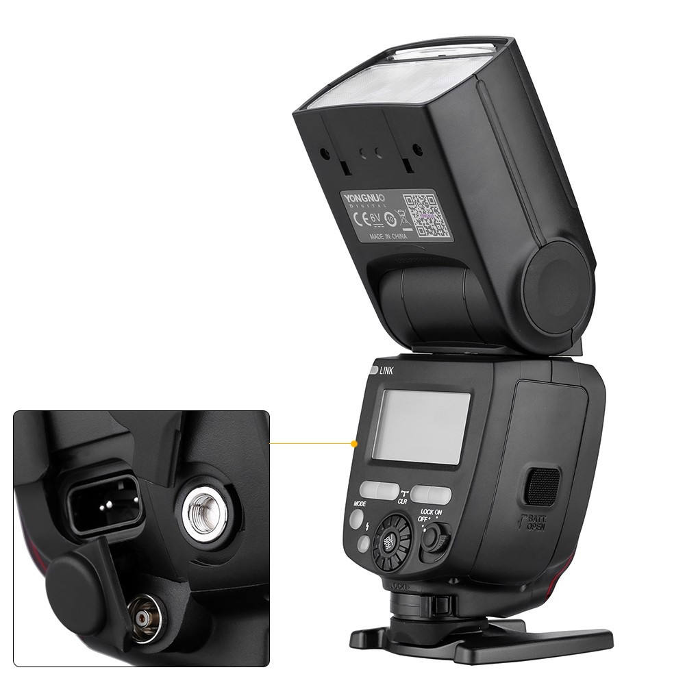 Yongnuo Speedlight YN685 1/8000s HSS 622C GN60 2.4GHz Wireless Radio ETTL Flash Built-in Support External Power for Canon
