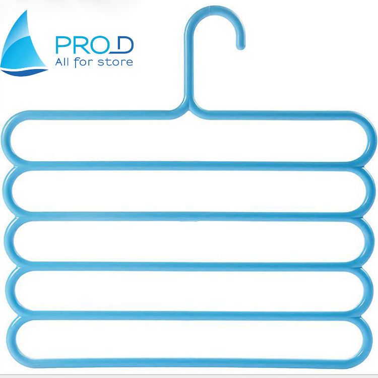 Dazzling color 5-layer clothes hanger scarf towel rack multi-layer trouser rack plastic trouser rack