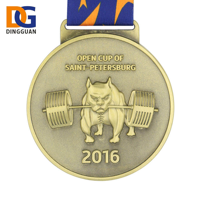 Custom Made Zinc Alloy Cheap The Puppy Run Sports Medal