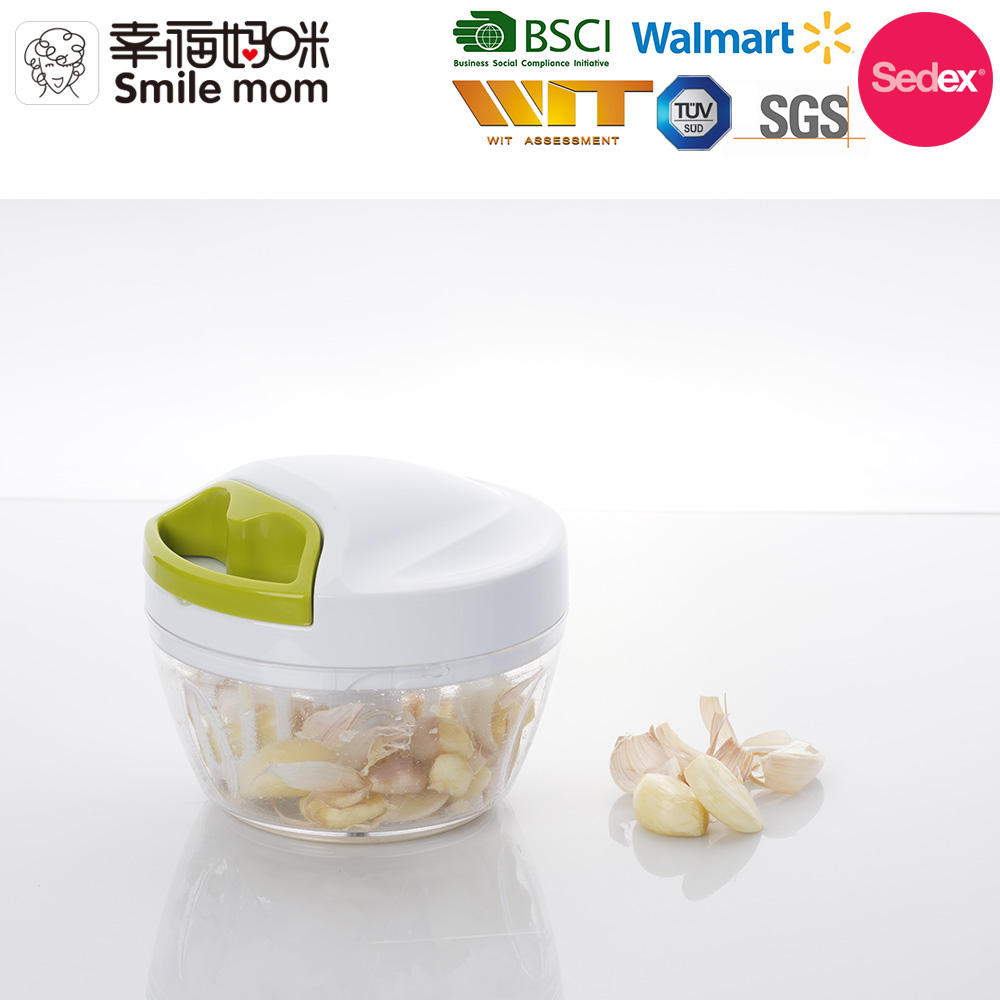 2 in 1 Multi Kitchen Tools Vegetable Cutter Manual Quick pull Chopper and Garlic Peeler