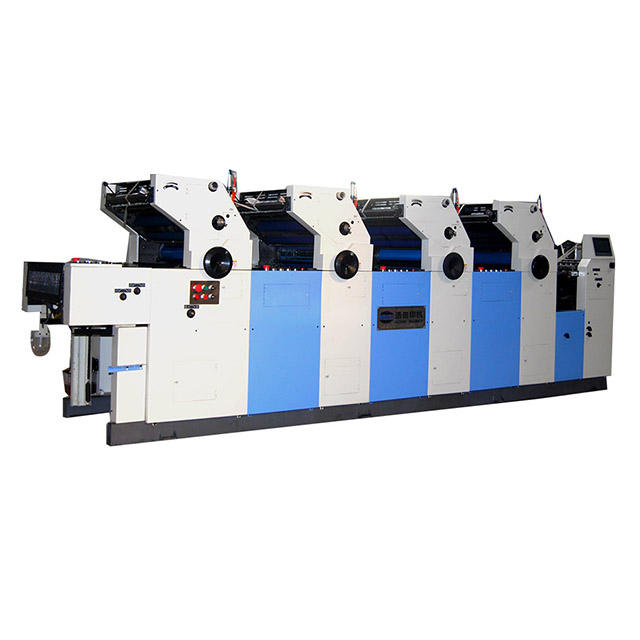 Paper printing press for four color offset printing press