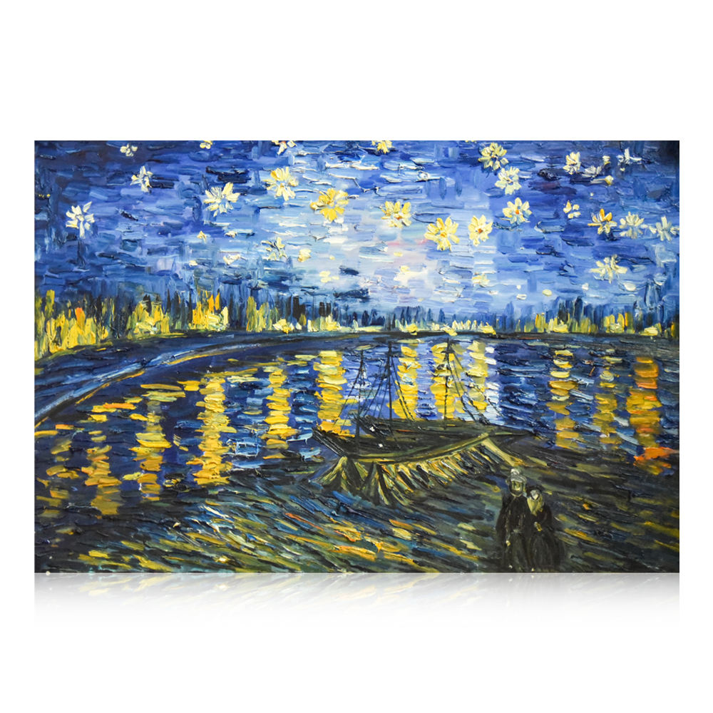 Fantastic Romantic Dutch Artistic Artwork Most Recognized Starry Night Van Gogh Oil Painting