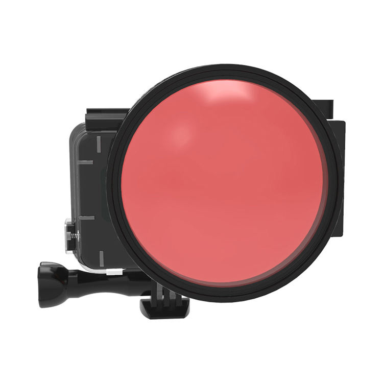 Red +24X Macro diy night diving filter 15-20 ft housing underwater photography suit