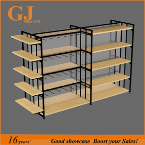 Modern Style Wooden Display Shelf / Retail Store Display Stand / retail floor display stand