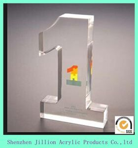customize Clear Crystal souvenir acrylic blank laser award plaques